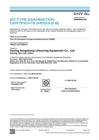 DNV-GL for EEBD