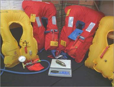 Figure 18: Who can Service a SOLAS Inflatable Life Jacket?