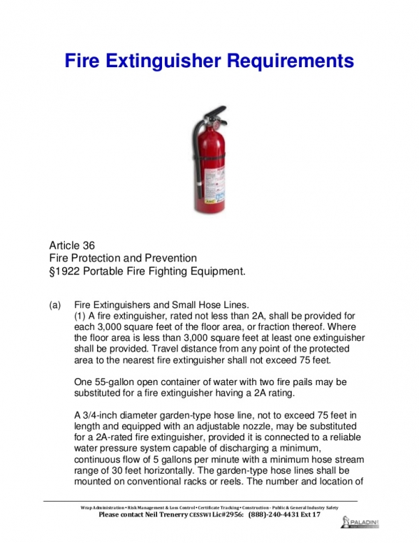 Figure 10: Fire Extinguisher Requirements by SOLAS