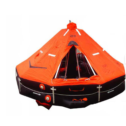 Figure No.7 A Life Raft with Canopy